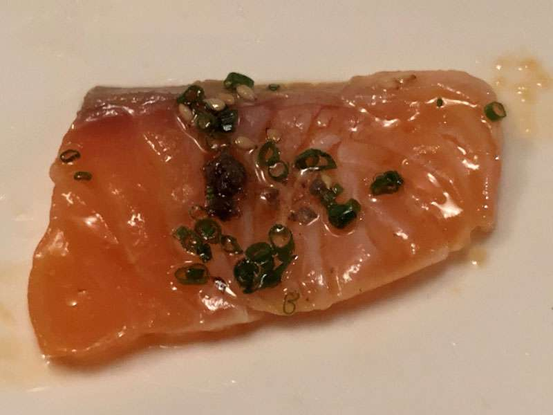 The salmon was perfectly fresh and moist