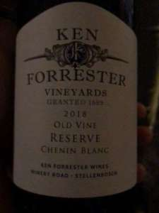 good Ken Forrester Old Vine Reserve Chenin Blanc, 2018, from Stellenbosch, South Africa
