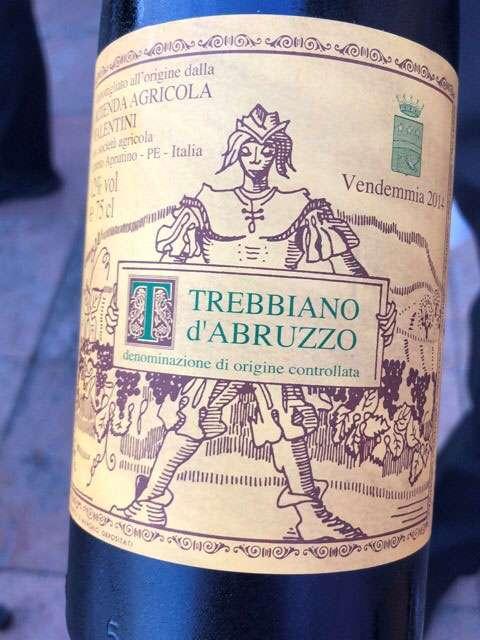 Trebbiano d'Abruzzo Valentini 2014 wine