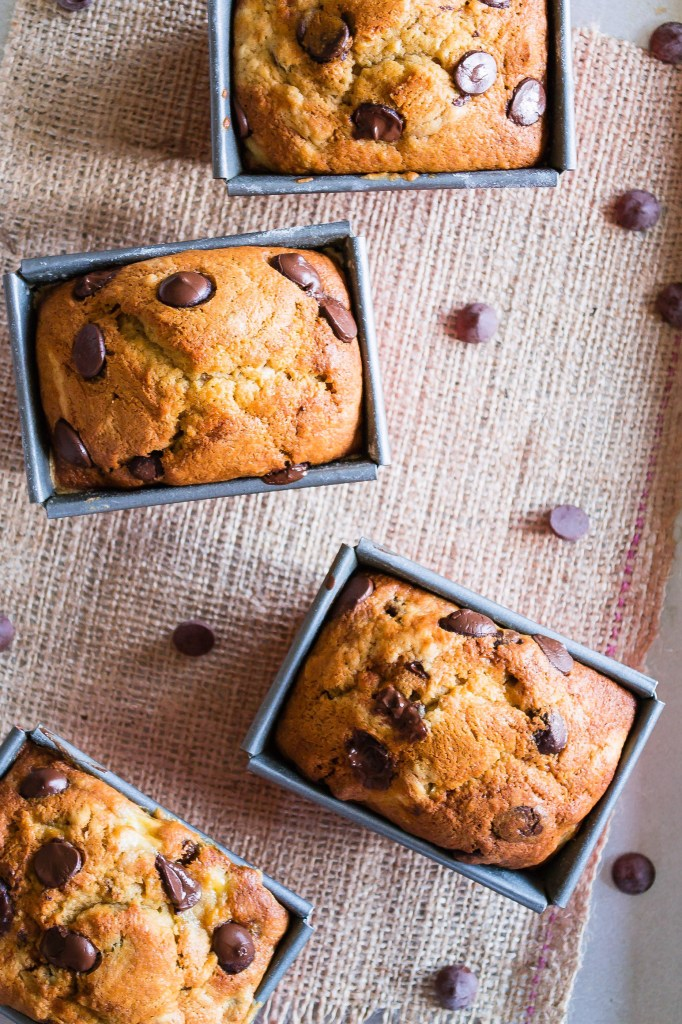 Moist Banana Loaf with  Chocolate Chips
