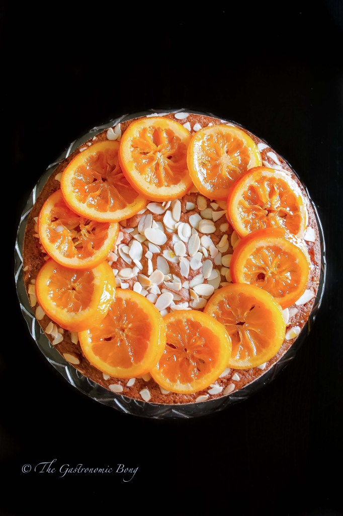 Orange Almond Cake with Candied Orange
