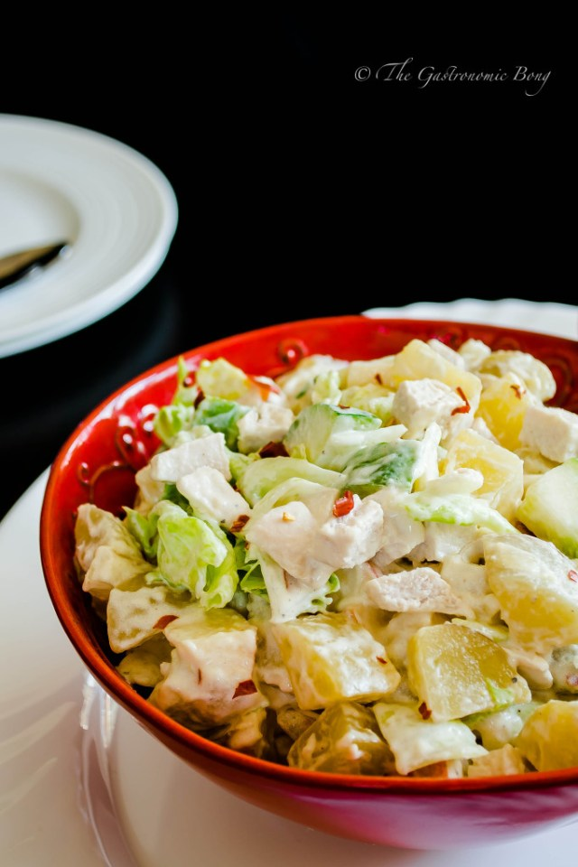 potato salad with chicken, apple and pineapple2