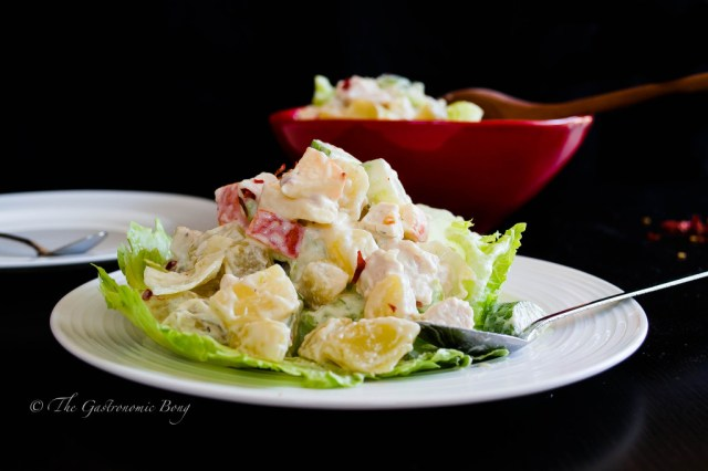 potato salad with chicken, apple and pineapple7