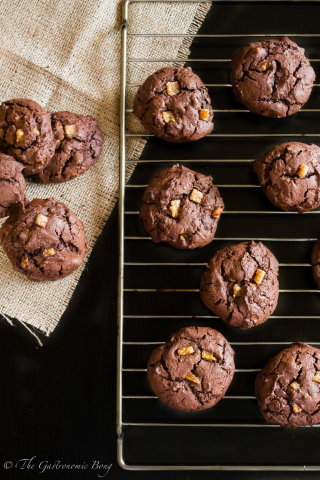Double Chocolate Brownie Cookies with Walnuts and Candied Orange Peel1