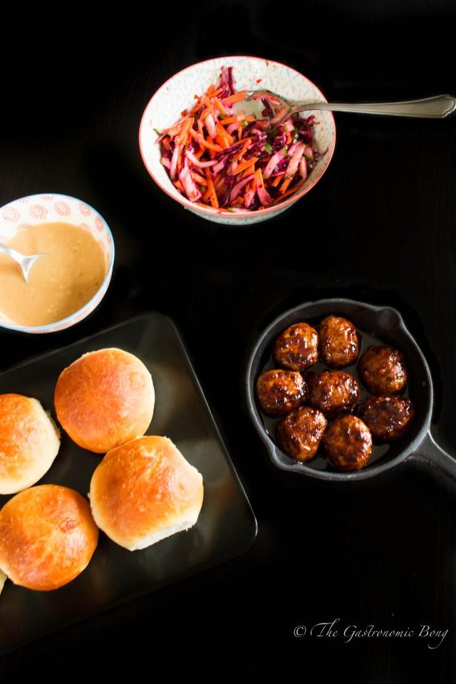 Oriental Meatballs Slider with Kimchi Slaw and Hoisin Mayonnaise10