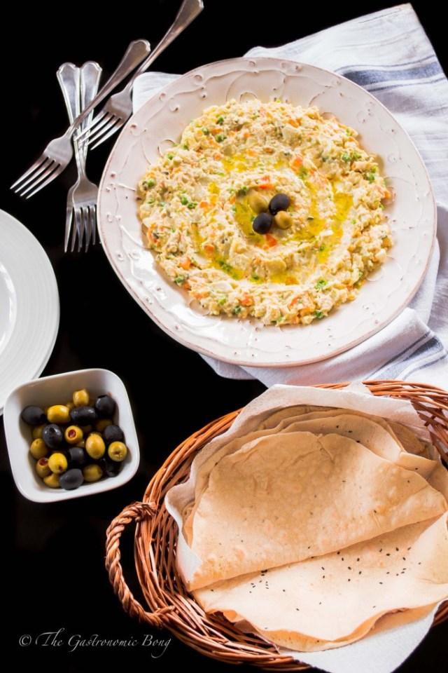 Persian Salad-e-Olivieh with Taftoon Bread4