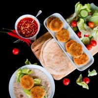 Sweet Chilli Crispy Chickpeas Patty Wraps