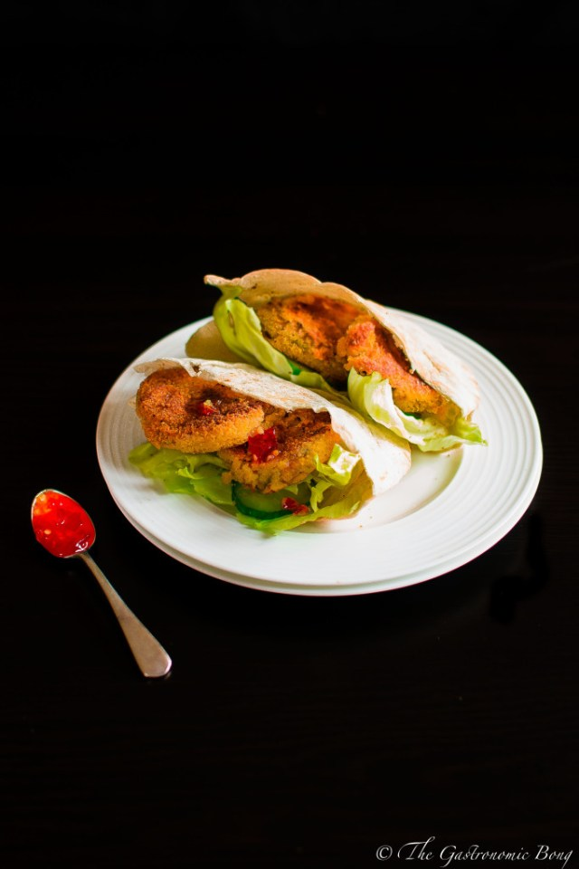 Sweet Chilli Crispy Chickpea Patty Wrap8