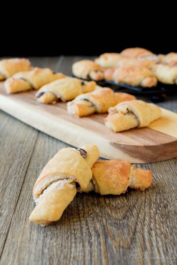 Hanukkah Rugelach w/ Walnuts Raisins and Cinnamon Sugar