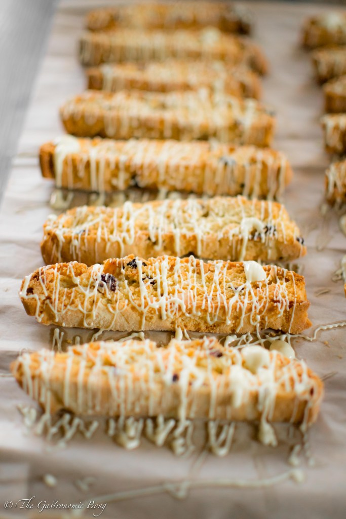 Cranberry Orange and Macadamia Nuts Biscotti