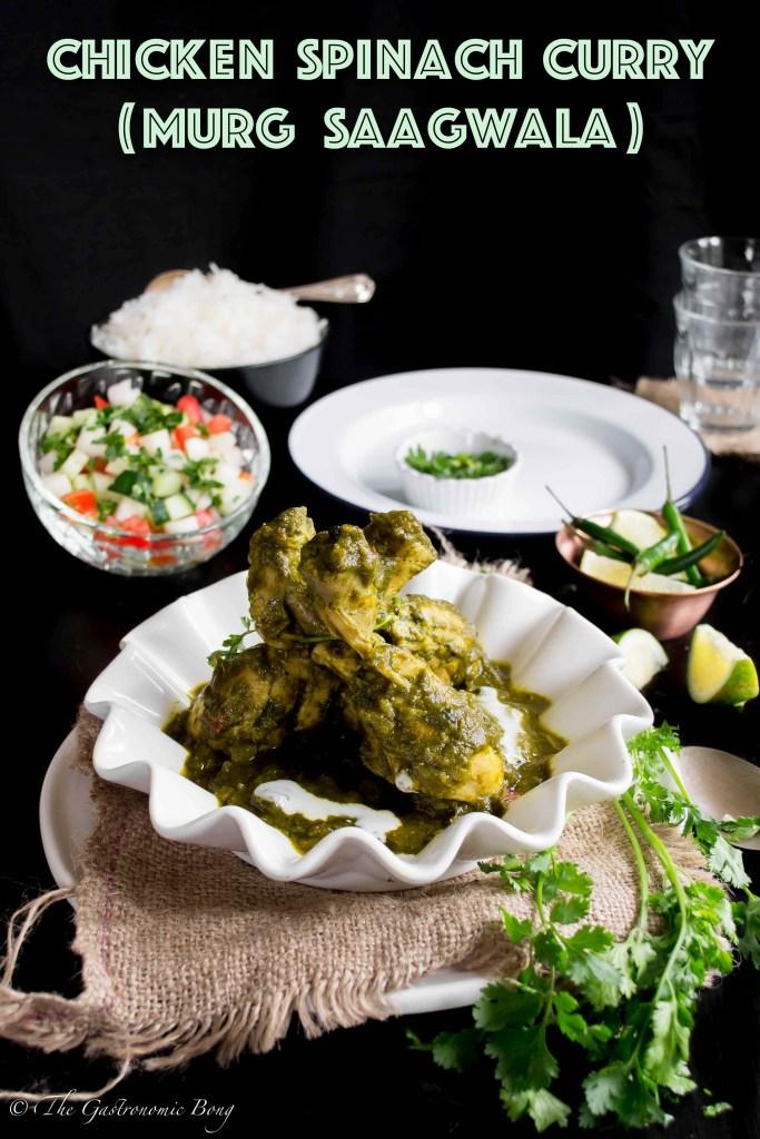 Chicken Spinach Curry - Murg Saagwala