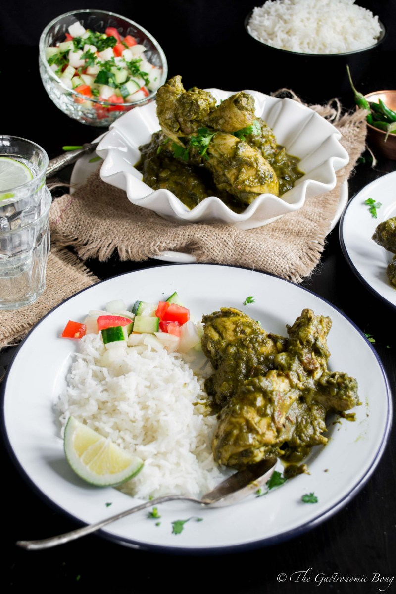 Chicken Spinach Curry- Murg Saagwala