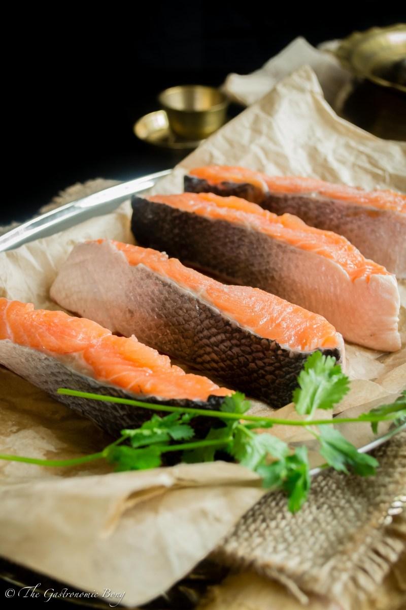 Salmon Curry With Cauliflower And Potato (Fulkopi Aloo Diye Macher Jhol)