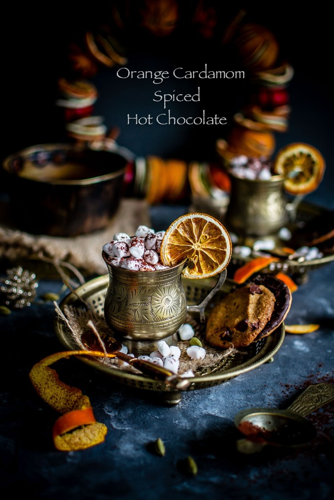 Orange Cardamom Spiced Hot Chocolate