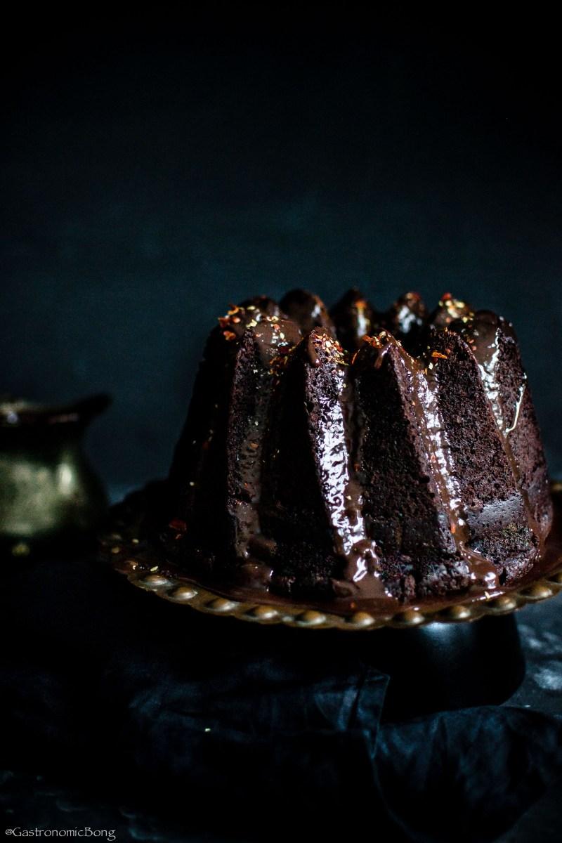 Chocolate Chilli Mayonnaise bundt Cake