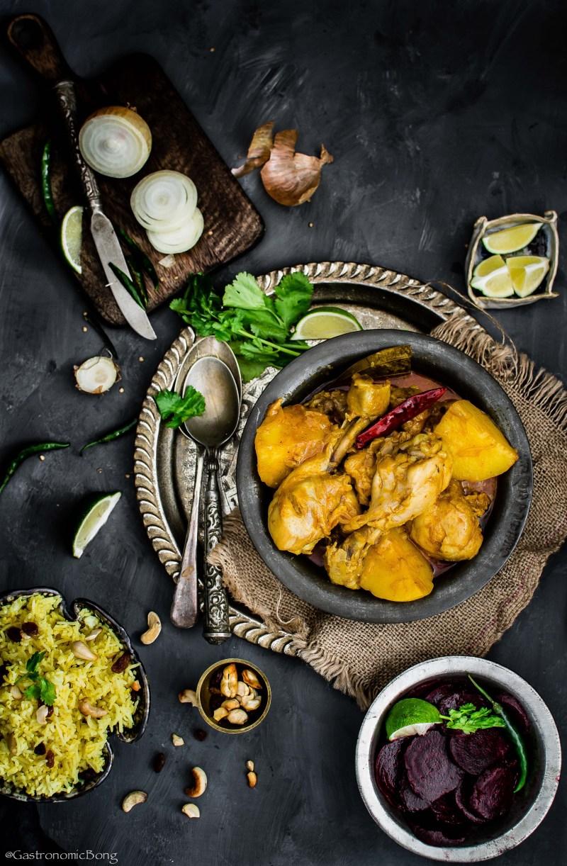 One Pot Indian Chicken Curry( Murgir mangshor jhol)