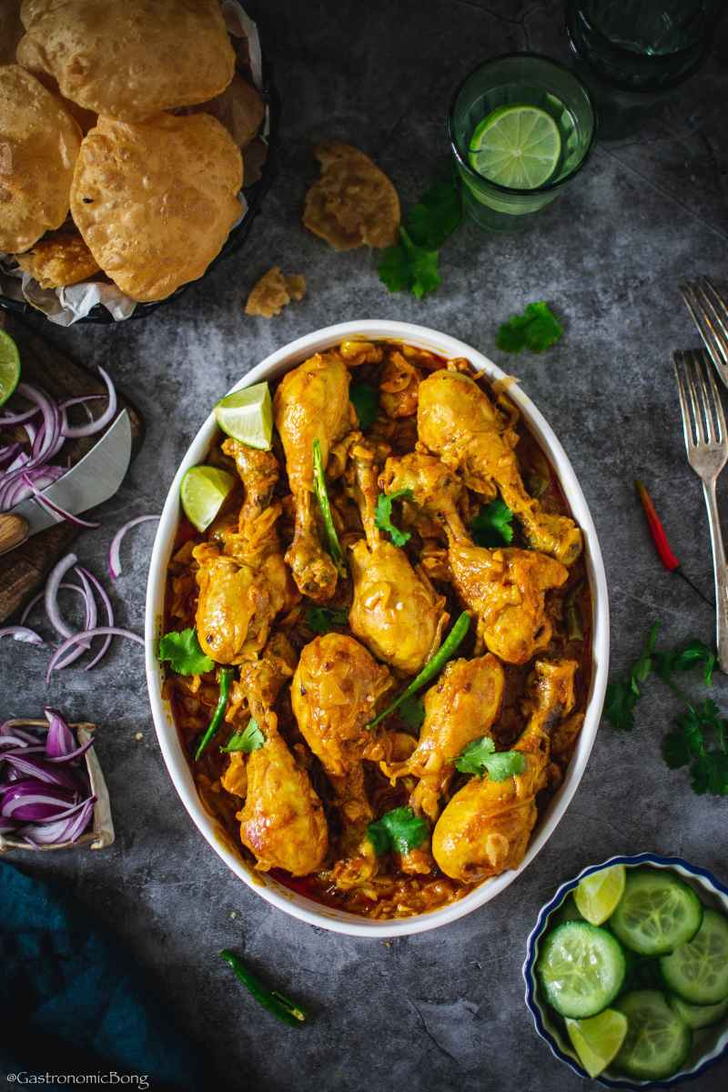 Chicken curry with fenugreek