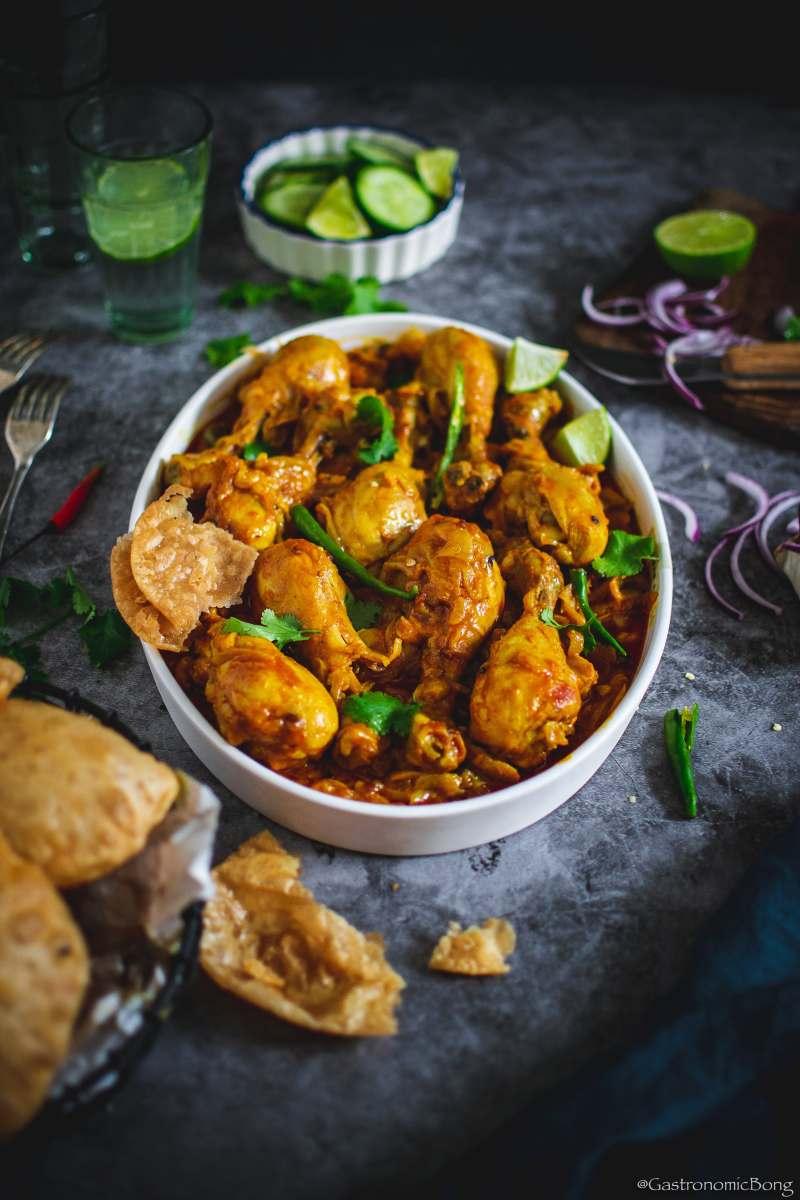 Chicken curry with fenugreek