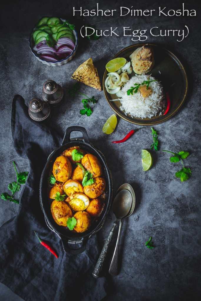 Hasher Dimer Kosha (Duck Egg Curry Bengali style)