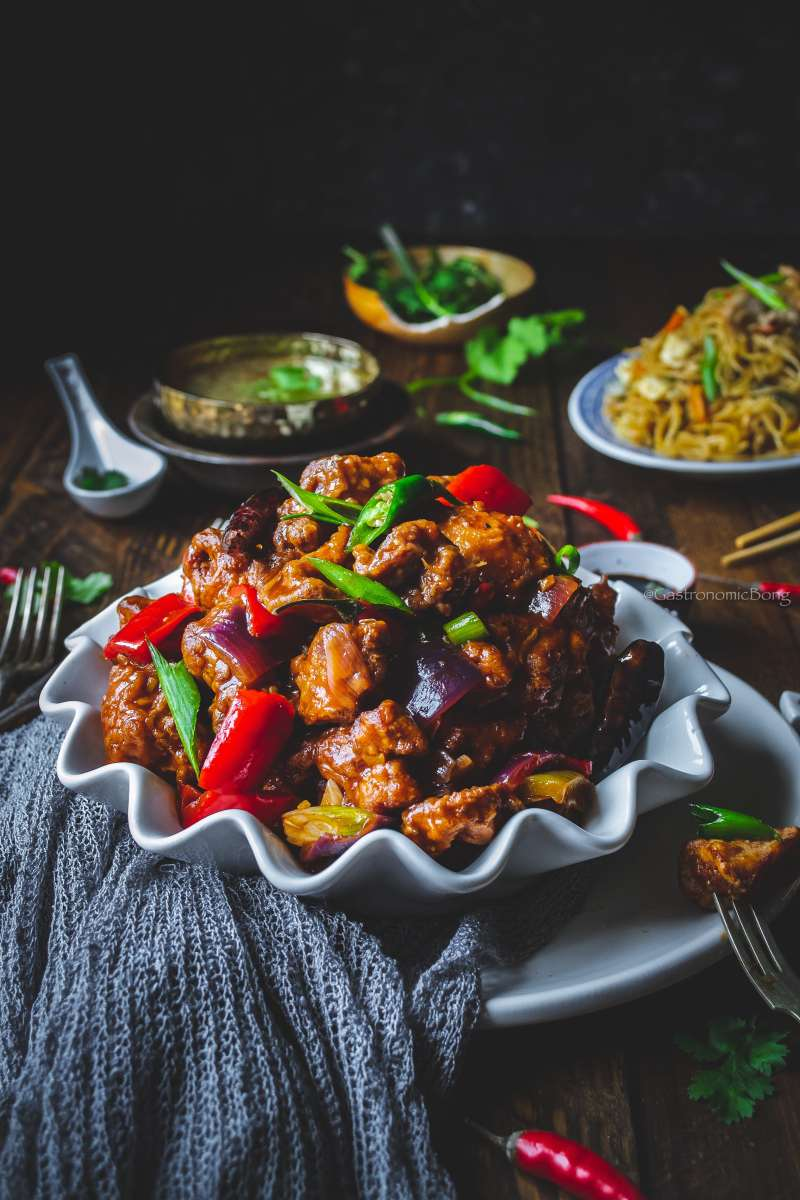 Restaurant style Chilli chicken