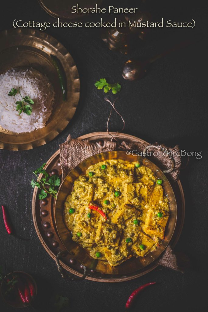 Shorshe narkel paneer recipe