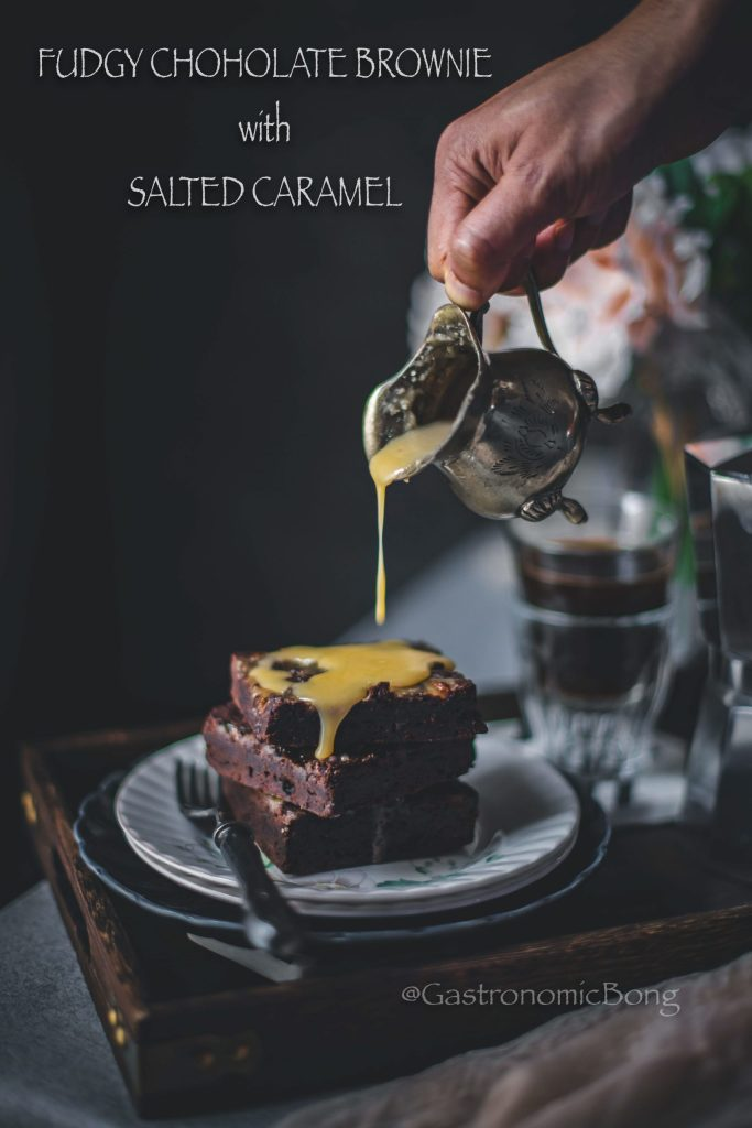 Fudgy Brownies with Salted Caramel