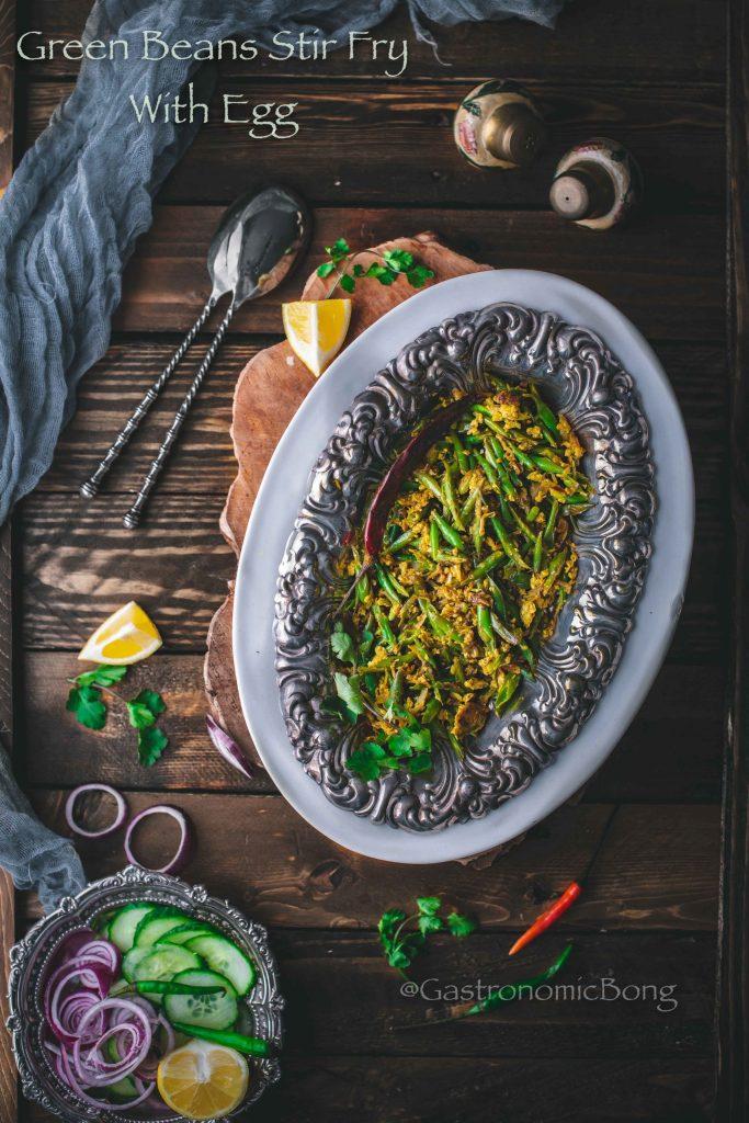 Green Beans Stir fry with Egg