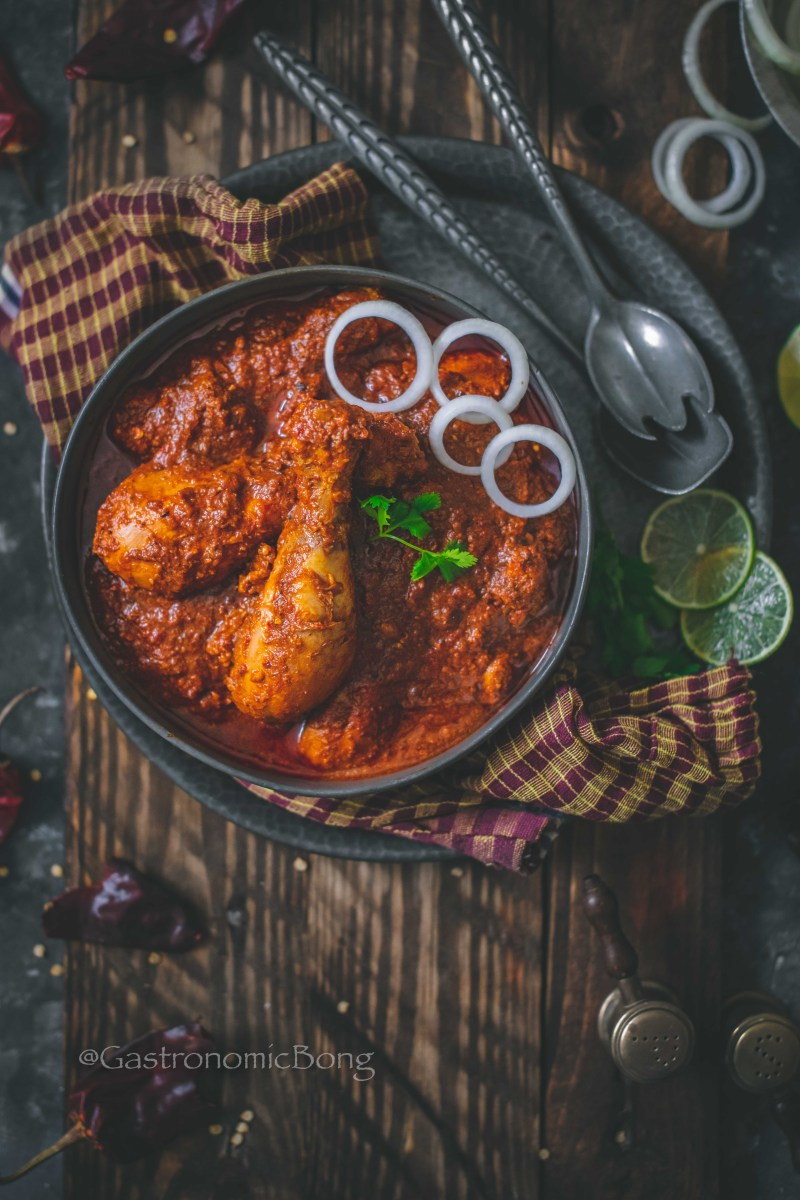 Saoji Chicken with Saoji masala