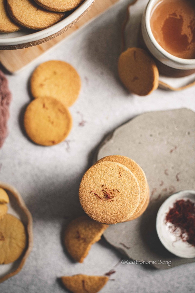 Hyderabadi Osmania Biscuit Recipe (saffron cookies)
