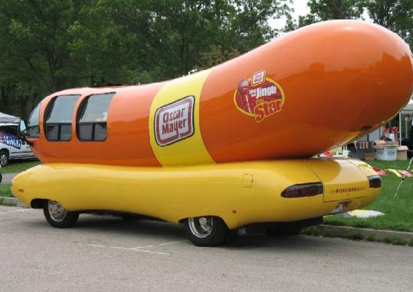 Image result for a boat in the shape of a hot dog