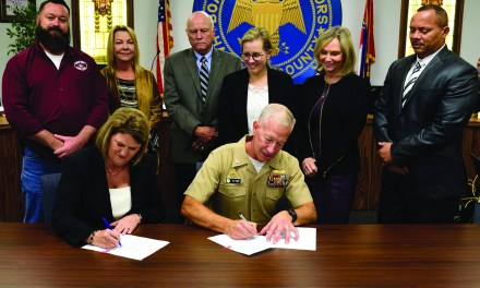 HARRISON COUNTY SUPS & NCBC SIGN AGREEMENT