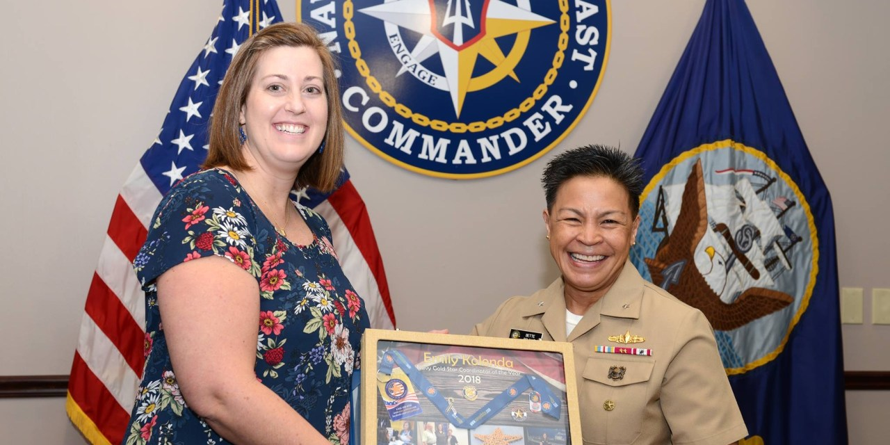 Kolenda named 2018 Navy Gold Star Coordinator of the Year