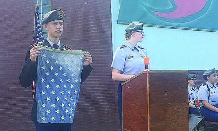 West Harrison Symbolically Retires U.S. Flag
