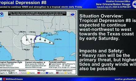Tropical Depression Weekend Warning