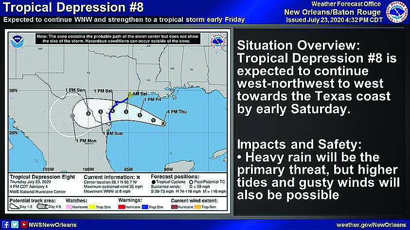 Tropical Depression Weekend Warning