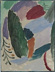 Variation: Frosty Day, 1915, Oil on papier mounted on board, National Gallery of Art, Washington D.C Gift of Benjamin and Lilian Hertzberg.