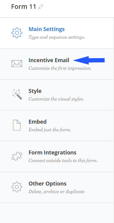 convertkit incentive email settings