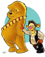 Tigger Solo and Chewie the Pooh