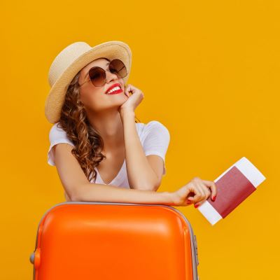 girl with a luggage