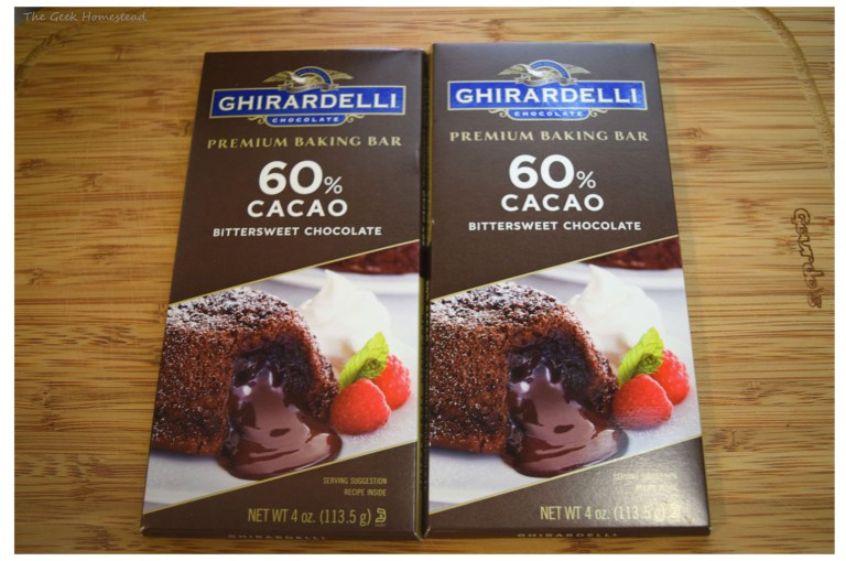 60% cacao bittersweet chocolate bars from Ghirardelli