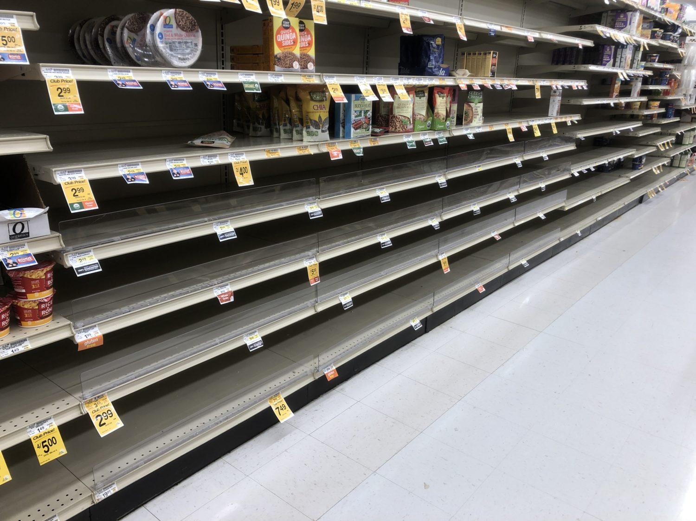 empty store shelves
