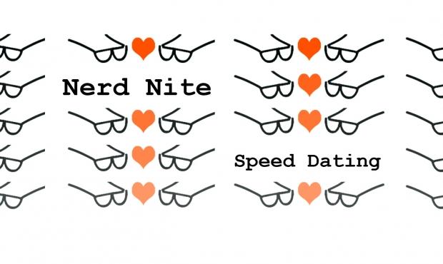 Nerd Nite Speed Dating młodsza dziewczyna umawiająca się z drugim facetem