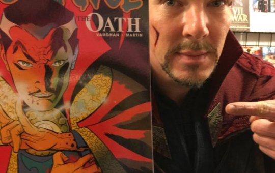 Benedict Cumberbatch Dressed as Doctor Strange