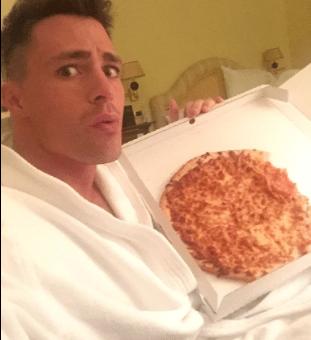 Colton Haynes Pizza
