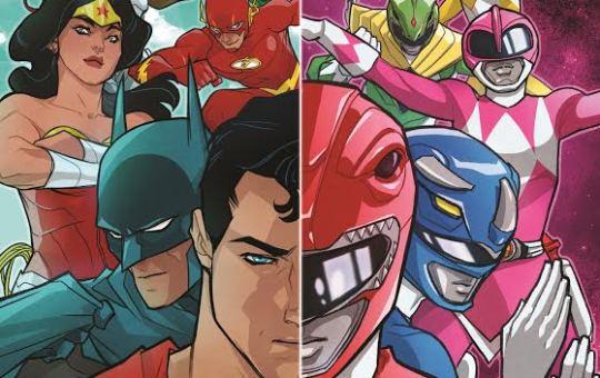 Justice League Power Rangers Crossover cover Saban Boom studios DC Comics