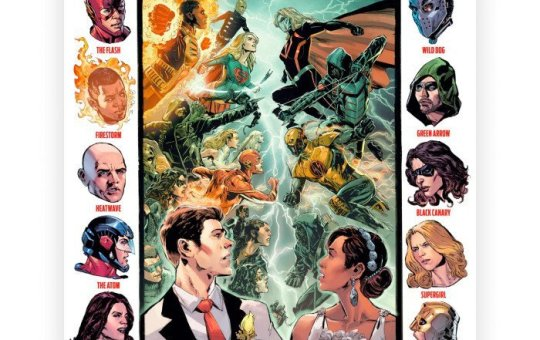 Crisis on Earth-X comic cover The CW