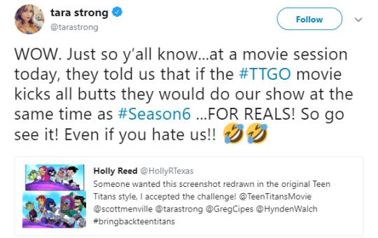 Teen Titans Season 6 Tara Strong