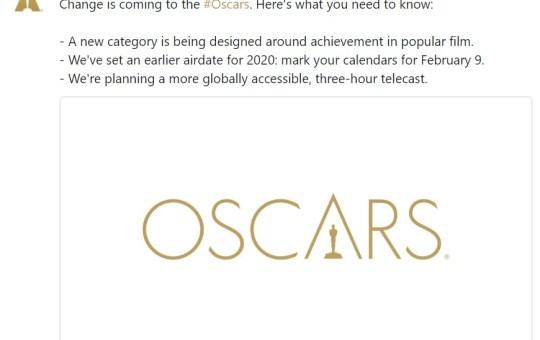 Oscar Popular Film Changes 2018 2020