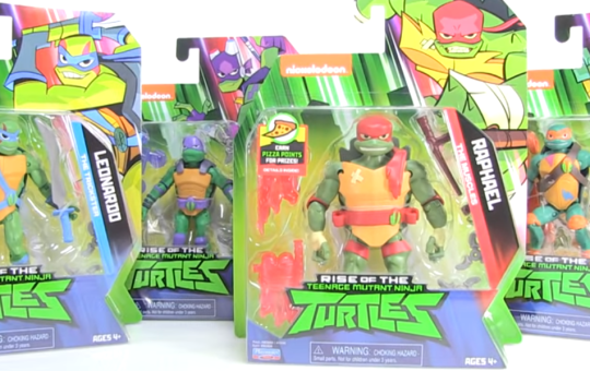 Rise of the TMNT action figures Playmates Toys