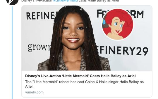Halle Bailey as Ariel in The Little Mermaid